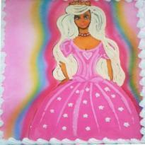 Pink Barbie Doll (Black forest) Cake